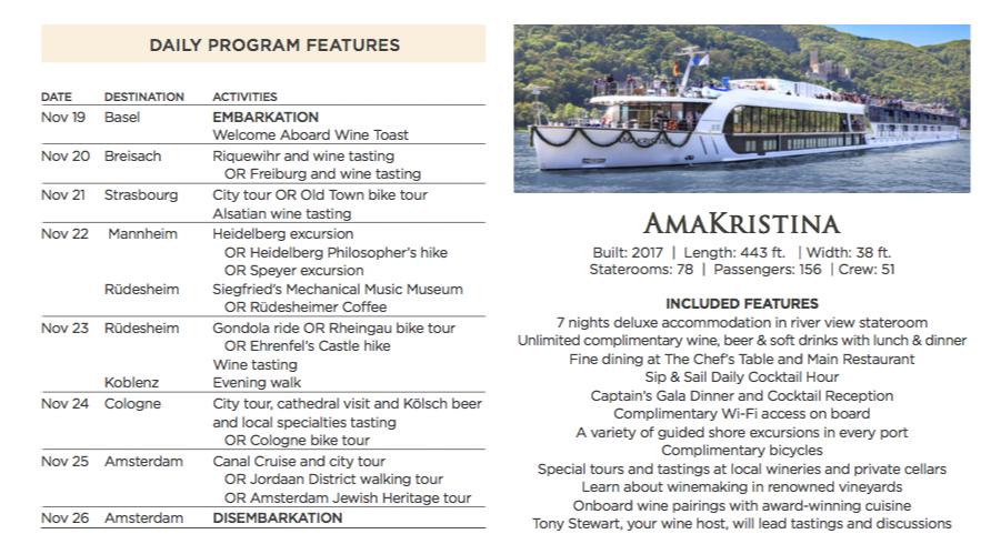 Rhine River Cruise Agenda Nov 2018