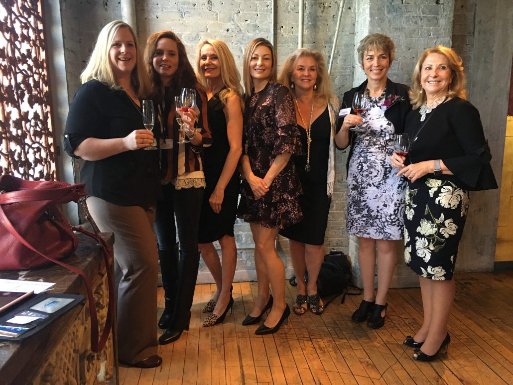 Amazing structured tasting and luncheon at George Restaurant, Toronto. The women in wine. Left to right: Megan Schofield, Robert Monday, Vitalie Taittinger, Champagne Taittinger, Georgia, Jennifer Whether, Master Sommelier, Susanne, Louise Engel, Featherstone Estate Winery and Susana Balboa, Susana Balboa Wines.