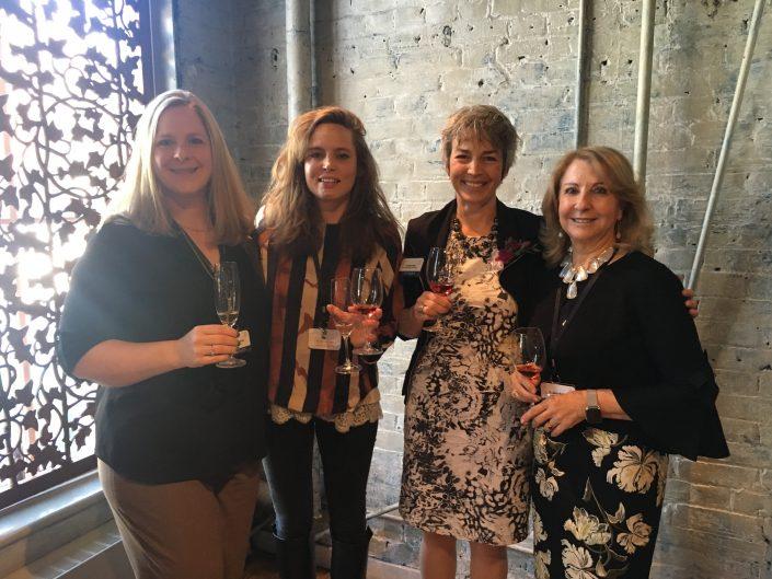 Amazing structured tasting and luncheon at George Restaurant, Toronto. The women in Wine. Left to right: Megan Schofield, Robert Mondavi Winery, Vitalie Taittinger, Champagne Taittinger, , Louise Engel, Featherstone Estate Winery and Susana Balboa, Susana Balboa Wines.