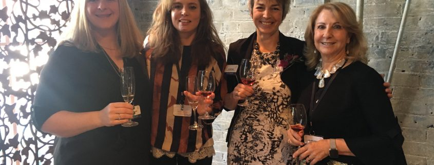 Amazing structured tasting and luncheon at George Restaurant, Toronto. The women in Wine. Left to right: Megan Schofield, Robert Mondavi Winery, Vitalie Taittinger, Champagne Taittinger, , Louise Engel, Featherstone Estate Winery and Susana Balboa, Susana Balboa Wines.