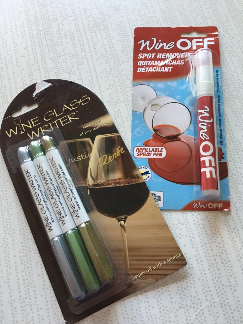 Wine Glass Writer set and Wine OFF