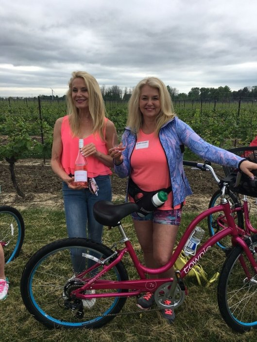 A recent bicycle tour in the vineyards included a glass of Remy Pannier Rose! Preparing to celebrate International Rose Day coming up June 22nd, 2018.