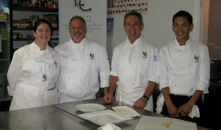 The fabulous students who prepared the food for the vodka food pairing event taking place later on in the afternoon! — with Chantel Parkes, David Gosse, Michael Bartello and Winston Tham.
