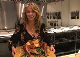 Chef Clodagh McKenna make a turkey with Guinness