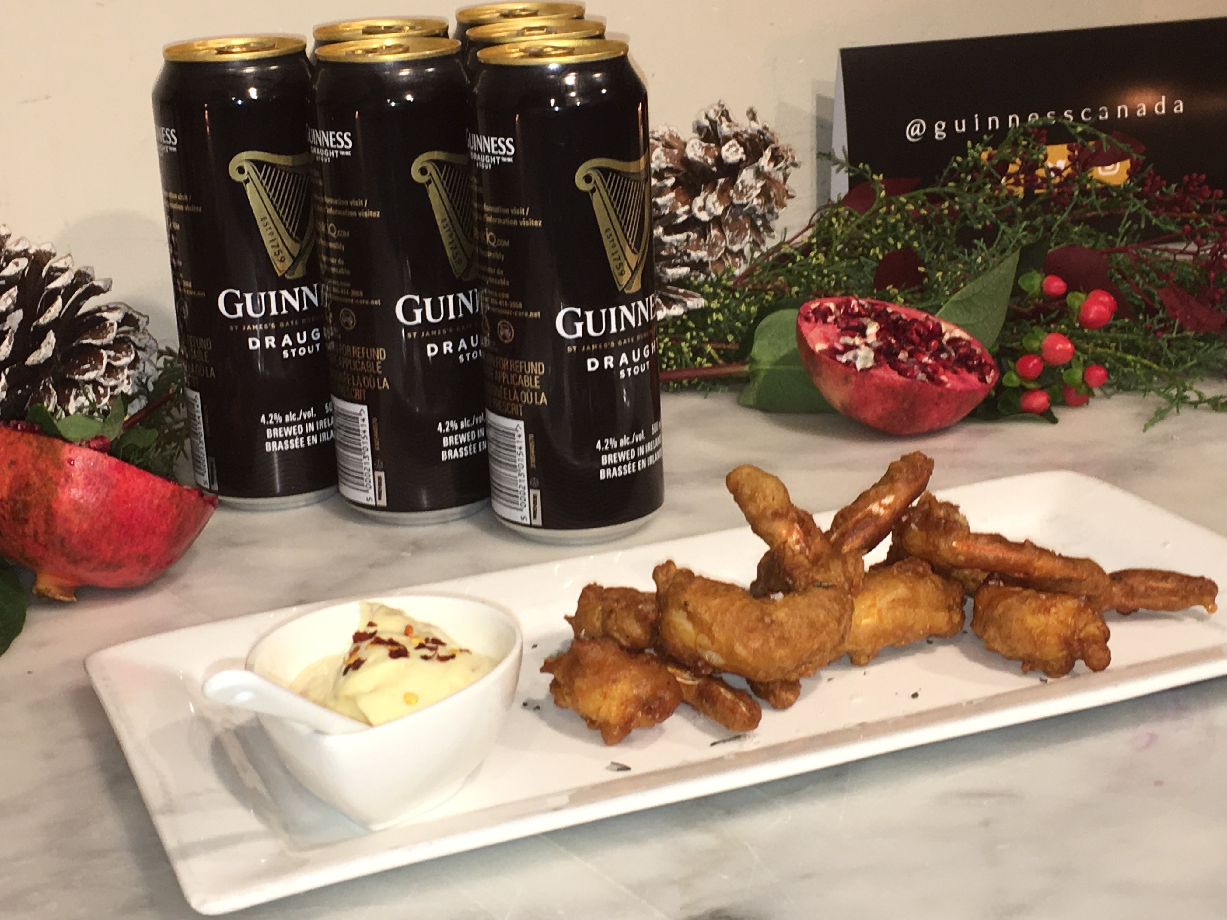 Guinness Prawn Tempura