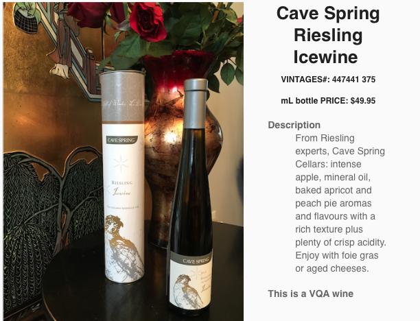 Cave Spring Cellars Riesling Icewine 2014