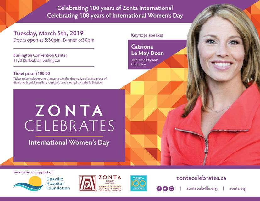 Zonta Oakville International Women's Day 2019