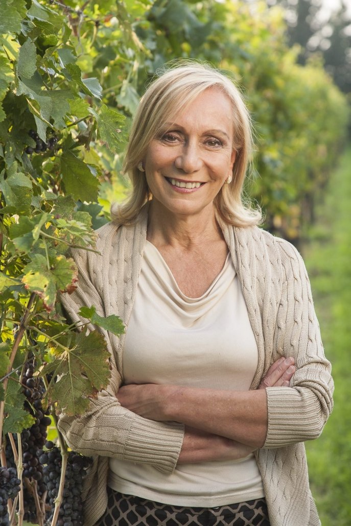 Marilisa Allegrini at La Poya vineyard, Allegrini, Valpolicella, Italy
