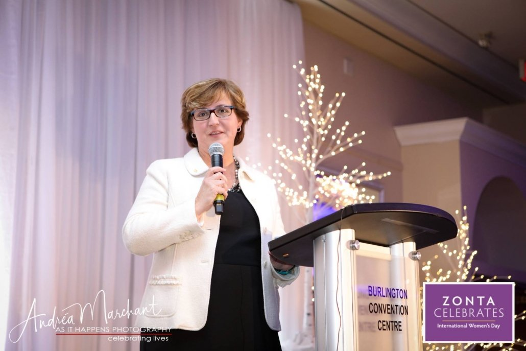 The funds specifically directed to the issues of women's health. CEO Oakville Hospital Foundation Mary McPherson addressed the group and announced that $50,000 over the next 5 years will be raised by The Zonta Club of Oakville.