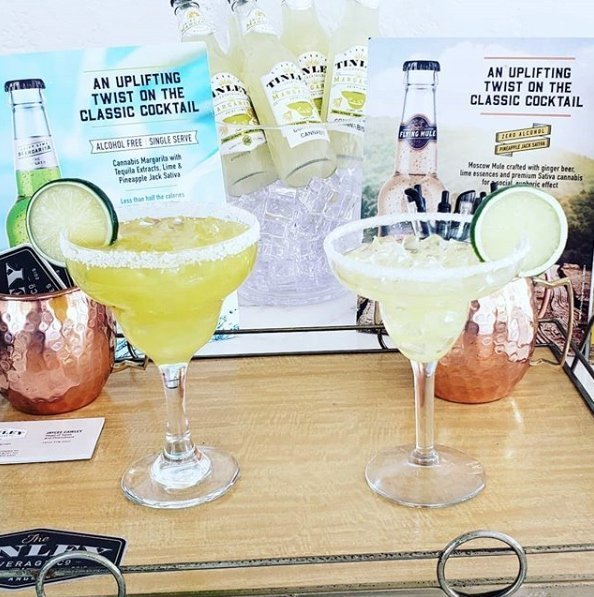 The company is producing cannabis infused classic cocktails like the Lime Margarita and Flying Mule. LIME MARGARITA A single-serving, alcohol-free, ready-to-drink twist on the popular classic. Tinley™ Margarita is infused with real tequila and lime extracts, and Pineapple Jack Sativa. Less than half the calories of ready-to-drink alcohol margaritas (only 60 calories/serving). Drink cold and enjoy.   FLYING MULE Our classic Moscow Mule-inspired cocktail, alcohol-free, crafted with ginger beer, lime essences and pineapple jack sativa. Single-serve, ready to drink, with less than half the calories of ready-to-drink and bar-mixed alcohol Moscow Mules.  Pineapple Jack is a sativa-dominant cannabis strain bred with Pineapple family and Jack Herer genetics, designed to provide a euphoric, blissful effect.