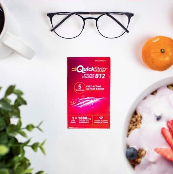 Vitamin B12 may benefit your body in impressive ways, such as by boosting your energy, improving your memory and helping prevent heart disease. QuickStrip B12 is placed on or under your tongue, or inside your cheek — quickly delivering the active ingredient into your bloodstream and providing you with rapid results.