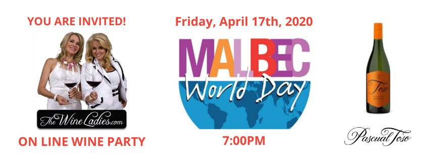 Malbec World Day Covid-19 on line Zoom party