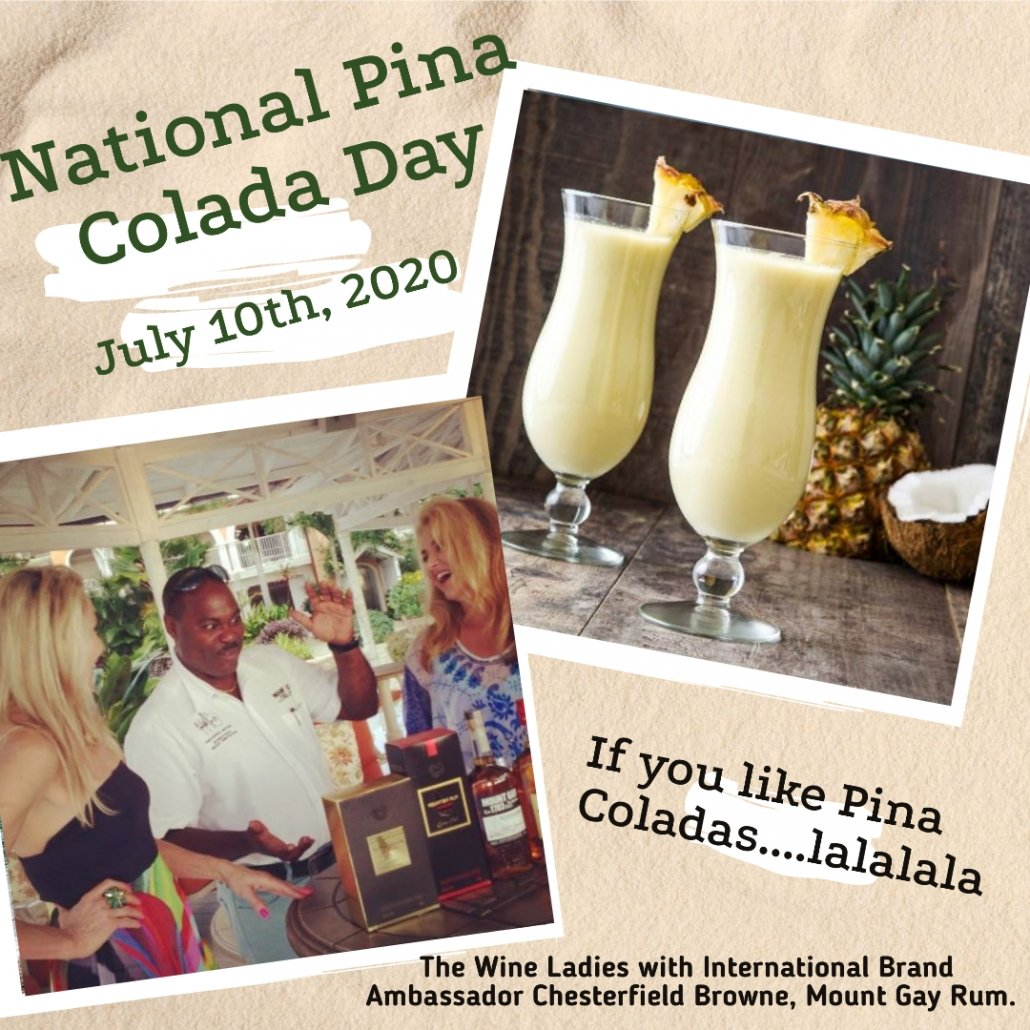 National Pina Colada Day, July 10th,2020