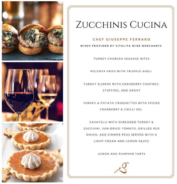 Zucchinis Cucina Oct 6th, 2020 Thanksgiving Event